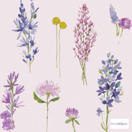 Bluebellgray - Murran Wallpaper - Heather - 57190-101  | Wallpaper, Wallcovering - Blue, Pink, Purple, Contemporary, Floral, Garden, Botantical