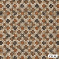 Catherine Martin By Mokum - Hammam - Copper - 12422-218  | Upholstery Fabric - Brown, Mediterranean, Geometric, Decorative, Lattice, Trellis, Stars