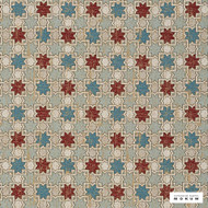 Catherine Martin By Mokum - Hammam - Turquoise - 12422-421  | Upholstery Fabric - Red, Deco, Decorative, Geometric, Mediterranean, Natural Fibre, Pattern, Natural, Stars