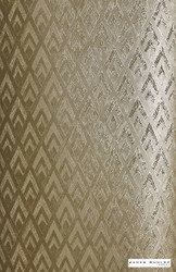 James Dunlop Indent - Pendant Wallpaper - Burnished - 57186-105  | Wallpaper, Wallcovering - Gold, Yellow, Art Deco, Geometric, Chevron, Zig Zag