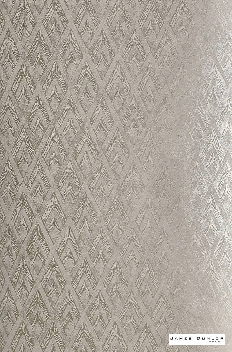 James Dunlop Indent - Pendant Wallpaper - Pearl - 57186-102  | Wallpaper, Wallcovering - Art Deco, Deco, Decorative, Fibre Blends, Geometric, Standard Width