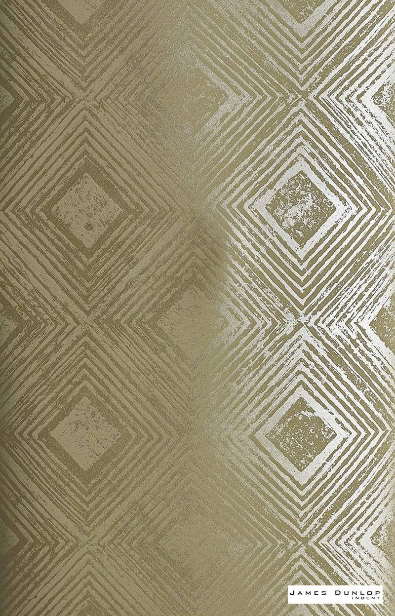 James Dunlop Indent - Reflection Wallpaper - Burnished - 57187-105  | Wallpaper, Wallcovering - Gold,  Yellow, Deco, Decorative, Fibre Blends, Geometric, Standard Width