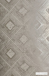 James Dunlop Indent - Reflection Wallpaper - Pearl - 57187-102  | Wallpaper, Wallcovering - Deco, Decorative, Fibre Blends, Geometric, Diamond - Harlequin, Standard Width
