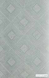 James Dunlop Indent - Reflection Wallpaper - Robins Egg - 57187-104  | Wallpaper, Wallcovering - Deco, Decorative, Fibre Blends, Geometric, Diamond - Harlequin, Standard Width
