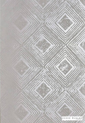 James Dunlop Indent - Reflection Wallpaper - Silvershadow - 57187-101  | Wallpaper, Wallcovering - Grey, Silver, Deco, Decorative, Fibre Blends, Geometric, Standard Width