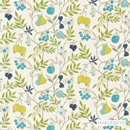 Harlequin Joelle 120122  | Curtain & Upholstery fabric - Blue, Craftsman, Floral, Garden, Harlequin, Midcentury, Natural Fibre, Commercial Use, Domestic Use, Kitchen