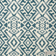 James Dunlop - Tula - Seaport - 12413-106  | Upholstery Fabric - Blue, Geometric, Mediterranean, Natural Fibre, Pattern, Natural, Standard Width