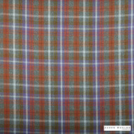 James Dunlop Indent - Sutherland - Bracken - 13279-105 | Curtain & Upholstery fabric - Fire Retardant, Orange, Red, Traditional, Check, Plaid