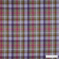 James Dunlop Indent - Sutherland - Heather - 13279-106  | Curtain & Upholstery fabric - Fire Retardant, Check, Fibre Blends, Multi-Coloured, Pink, Purple, Commercial Use
