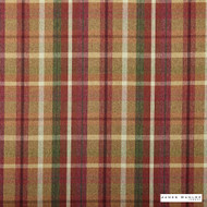 James Dunlop Indent - Sutherland - Rustic - 13279-104  | Curtain & Upholstery fabric - Fire Retardant, Red, Check, Fibre Blends, Multi-Coloured, Commercial Use, Top of Bed
