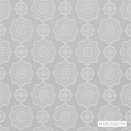 Harlequin Odetta 131574  | Curtain Fabric - Grey, Harlequin, Medallion, Synthetic, Transitional, Commercial Use, Domestic Use, Standard Width