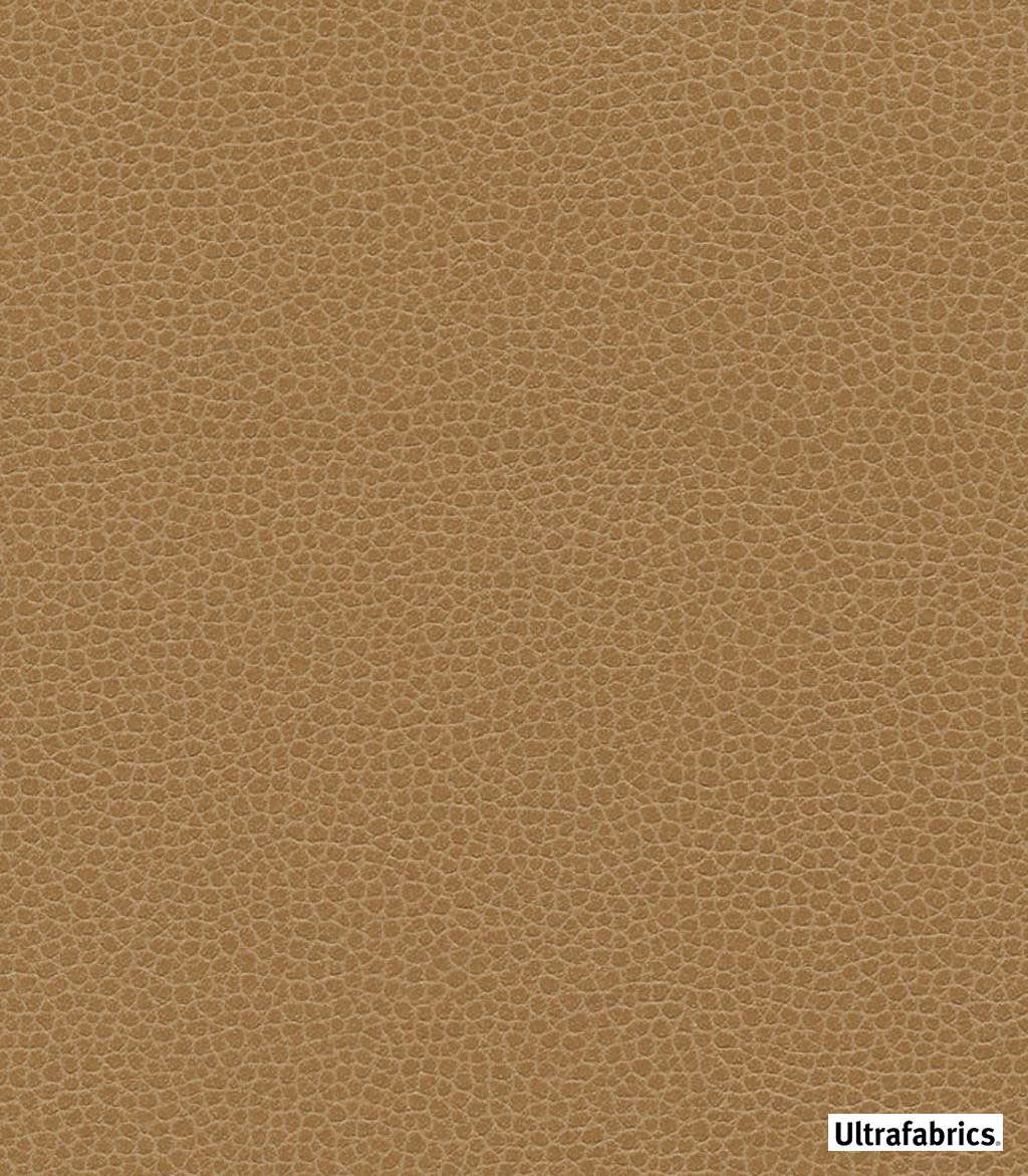 Ultrafabrics - Ultraleather Promessa - Camel-3142 - 56039-114  | Upholstery Fabric - Brown, Fire Retardant, Plain, Faux Leather, Fibre Blends, Commercial Use, Standard Width