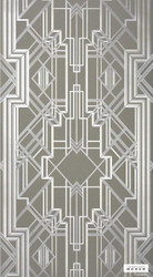 Catherine Martin By Mokum - Metropolis Wallpaper - Champagne - 10487-802  | Wallpaper, Wallcovering - Grey, Art Deco, Geometric, Decorative