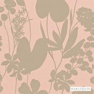 Harlequin Nalina 111051  | Wallpaper, Wallcovering - Eclectic, Floral, Garden, Harlequin, Pink, Purple, Domestic Use