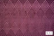 Kai - Trezzini - Delati Plum  | Upholstery Fabric - Geometric, Pink, Purple, Synthetic, Velvet/Faux Velvet, Commercial Use, Domestic Use, Dry Clean, Standard Width