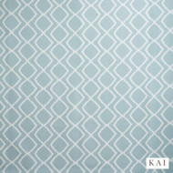Kai - Loxley Contract - Brigg Aqua Panama Fr  | Curtain Fabric - Blue, Floral, Garden, Geometric, Synthetic, Velvet/Faux Velvet, Commercial Use, Diamond - Harlequin