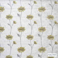 Ashley Wilde - Ashton - Nedla Dijon  | Curtain Fabric - Gold, Yellow, Contemporary, Floral, Garden, Botantical, Velvets, Standard Width