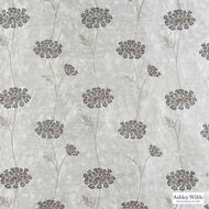 Ashley Wilde - Ashton - Nedla Smoke  | Curtain Fabric - Grey, Contemporary, Floral, Garden, Botantical, Silver, Velvets, Standard Width