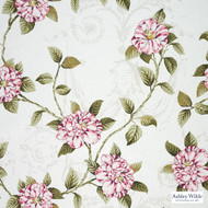 Ashley Wilde - Hampton Court - Osbourne Summer  | Curtain Fabric - Pink, Purple, Floral, Garden, Botantical, Dry Clean, Natural, Natural Fibre
