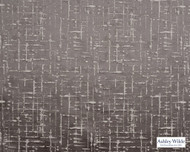 Ashley Wilde - Lamont - Mikkel Pewter  | Curtain Fabric - Brown, Contemporary, Strie, Fibre Blend, Standard Width