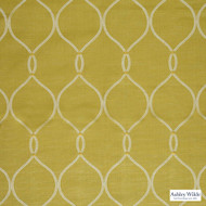 Ashley Wilde - Linus - Roscoe Zest  | Curtain Fabric - Gold, Yellow, Floral, Garden, Botantical, Mediterranean, Dry Clean, Lattice, Trellis, Ogee