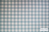 Ashley Wilde - Newport 2 - Bacara Sky  | Curtain Fabric - Blue, Check, Contemporary, Gingham, Natural Fibre, Dry Clean, Natural, Standard Width