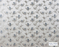 Ashley Wilde - Oakland - Carlina Midnight  | Curtain Fabric - Beige, Grey, Silver, Contemporary, Floral, Garden, Synthetic, Dry Clean, Standard Width