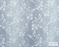 Ashley Wilde - Rossetti - Allston Sky  | Curtain Fabric - Blue, Contemporary, Floral, Garden, Botantical, Velvets, Standard Width