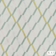 Kai - Kendi - Davu Alpine  | Curtain Fabric - Gold,  Yellow, Contemporary, Fibre Blends, Diamond - Harlequin, Dry Clean, Wide Width