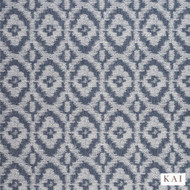 Kai - Kendi - Zemora Indigo  | Curtain & Upholstery fabric - Blue, Contemporary, Fibre Blends, Ikat, Mediterranean, Commercial Use, Diamond - Harlequin, Domestic Use