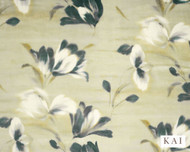 Kai - Renoir - Sisley Oasis  | Curtain & Upholstery fabric - Gold,  Yellow, Contemporary, Synthetic, Velvet/Faux Velvet, Commercial Use, Domestic Use, Standard Width