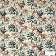 Linwood - Lf1692C_002 Horse And Hound  | Curtain & Upholstery fabric - Green, Floral, Garden, Botantical, Velvets, Animals, Fauna, Natural, Toile