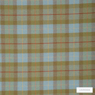 Linwood - Lf1565Fr_005 Larch Check  | Curtain & Upholstery fabric - Fire Retardant, Blue, Green, Traditional, Wool, Check, Plaid, Pattern, Fibre Blend