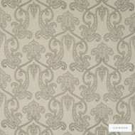 Linwood - Lf1564C_003 Charcoal  | Curtain & Upholstery fabric - Beige, Linen and Linen Look, Natural Fibre, Paisley, Pattern, Domestic Use, Natural, Print, Standard Width