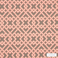Linwood - Lf1970C_001 Candy  | Curtain & Upholstery fabric - Red, Geometric, Abstract, Lattice, Trellis, Fibre Blend, Standard Width