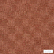 Linwood - Lf1932Fr_012 Rhubarb  | Curtain & Upholstery fabric - Fire Retardant, Brown, Terracotta, Fret, Greek Key, Geometric, Abstract, Natural