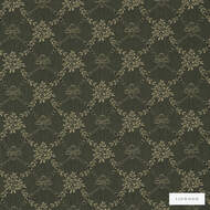 Linwood - Lf1618C_010 Midnight  | Curtain & Upholstery fabric - Green, Floral, Garden, Botantical, Lattice, Trellis, Natural, Rococo, Small Scale