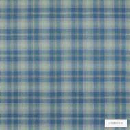 Linwood - Lf1518Fr_012 Covesea  | Curtain & Upholstery fabric - Fire Retardant, Blue, Traditional, Check, Natural, Plaid, Natural Fibre