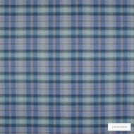 Linwood - Lf1518Fr_013 Southerness  | Curtain & Upholstery fabric - Fire Retardant, Blue, Traditional, Check, Natural, Plaid, Natural Fibre