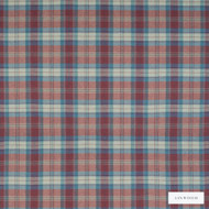 Linwood - Lf1518Fr_008 Weavers Point  | Curtain & Upholstery fabric - Fire Retardant, Red, Check, Natural Fibre, Weave, Domestic Use, Natural, Standard Width