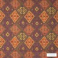 Linwood - Lf1234C_003 Sivas    Curtain & Upholstery fabric - Gold,  Yellow, Fibre Blends, Kilim, Multi-Coloured, Pattern, Weave, Domestic Use, Standard Width
