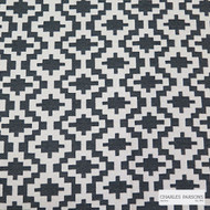 Charles Parsons Interiors - Cheyenne Charcoal | Upholstery Fabric - Black, Charcoal, Jacquards, Mediterranean, Uncoated, Geometric, Fibre Blend