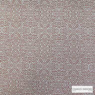 Charles Parsons Interiors - Totem Coral    Upholstery Fabric - Geometric, Synthetic, Uncoated, Weave, Commercial Use