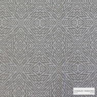 Charles Parsons Interiors - Totem Pearl  | Upholstery Fabric - White, Geometric, Synthetic, Uncoated, Weave, Commercial Use, White