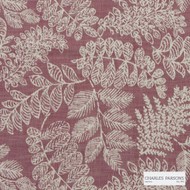 Charles Parsons Interiors - Asher Cranberry  | Upholstery Fabric - Red, Floral, Garden, Uncoated, Weave, Commercial Use