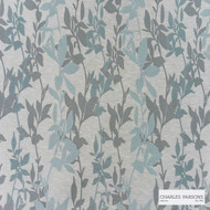 Charles Parsons Interiors - Sylvan Frost    Curtain Fabric - Blue, Floral, Garden, Uncoated, Weave, Commercial Use