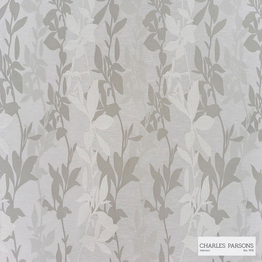 Charles Parsons Interiors - Sylvan Oyster White | Curtain Fabric - Grey, Floral, Garden, Botantical, Jacquards, Uncoated