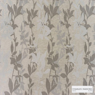 Charles Parsons Interiors - Sylvan Pebble  | Curtain Fabric - Brown, Floral, Garden, Uncoated, Weave, Commercial Use