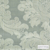 Charles Parsons Interiors - Ashridge Celadon  | Curtain Fabric - Damask, Uncoated, Weave, Commercial Use