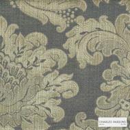 Charles Parsons Interiors - Ashridge Shadow | Curtain Fabric - Gold, Yellow, Traditional, Uncoated, Damask
